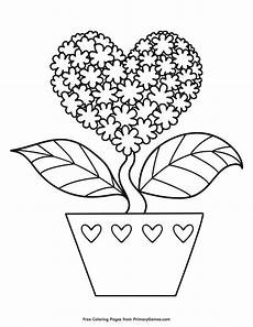 shaped flower coloring page free printable ebook