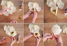 Papierblumen Basteln Anleitung - how to make paper flowers at home