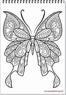 Malvorlagen Mandala Schmetterling Schmetterling Mandala Butterfly Mandala Free Printable
