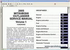 small engine repair manuals free download 2003 mitsubishi pajero electronic toll collection mitsubishi outlander 2005 repair manual cars repair manuals