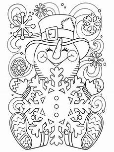 free winter coloring pages for adults printable to
