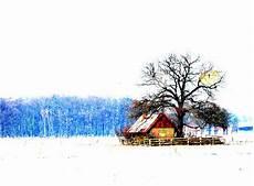 Malvorlage Haus Mit Schnee Haus Im Schnee Baum Mit Katzenaugen Foto Bild