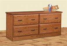 file credenza amish four drawer lateral file credenza