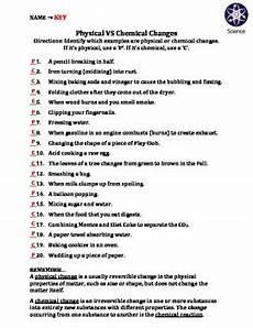 science worksheets chemical and physical changes 12153 worksheet physical vs chemical changes by travis terry teachers pay teachers