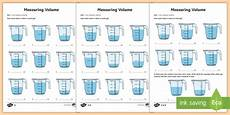 year 3 measure volume differentiated worksheets ks2