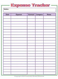 cute free printable expense tracker to add to your budget binder