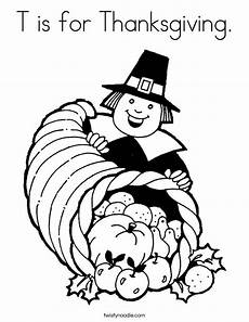 T Is For Thanksgiving Coloring Pages T Is For Thanksgiving Coloring Page Twisty Noodle
