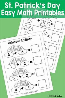 simple st patricks day math printables st day activities math for math