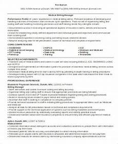 free 7 sle medical billing resume templates in ms word