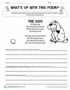 poetry worksheet for grade 1 25553 with alliteration worksheet education