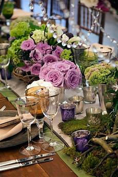purple and green table scape so chic tablescapes