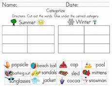 categorize classify worksheets including cut and paste by leticia gallegos