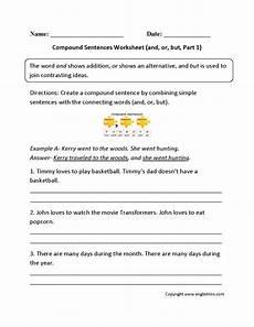 compound sentences worksheets englishlinx com board