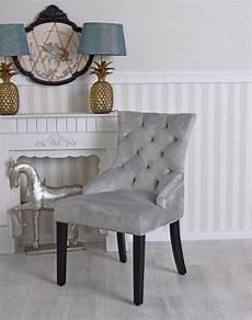 stuhl mit ring samtstuhl polsterstuhl grau esszimmerstuhl vintage chair