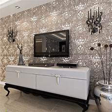 European 3d Thick Wallpaper Living Room Tv