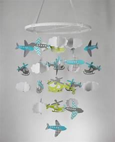 Baby Mobile Selber Basteln Papier Hubschrauber Flugzeuge