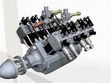 8 cylinder combustion four stoke aero model v8