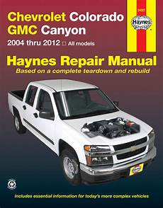 online car repair manuals free 2006 gmc canyon instrument cluster colorado haynes manuals