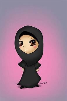Gambar Kartun Wanita Berhijab Paling Imut Dan Lucu
