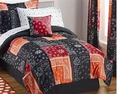 alcove bandana black 6 pc comforter half a home 143 bedding auction k bid