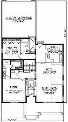 house plans for narrow lots with rear garage craftsman with rear load garage 89716ah 1st floor