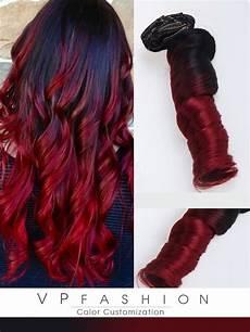 rot schwarz haarfarbe schwarz und rot clip in extensions aus echthaar r022 r022
