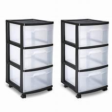 In Drawer Storage by Sterilite 3 Drawer Cart Storage Plastic Box Organizer