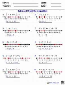 algebra worksheets inequalities 8439 compound inequalities worksheets school algebra algebra