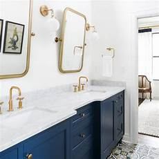 Bathroom Ideas Navy And White by White Navy And Gold Bathroom Leslie Cotter Interiors