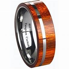 new koa inlay 6mm mens unisex tungsten carbide wedding band ring ebay