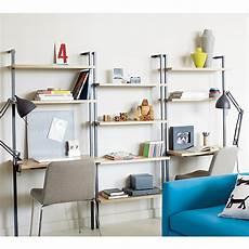 Helix White Oak Wall Mounted Desk cb2 helix white oak 70 quot wall mounted bookcase 149 00