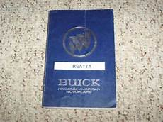 best auto repair manual 1990 buick reatta on board diagnostic system 1990 buick reatta coupe convertible owner owner s manual user guide 3 8l v6 ebay