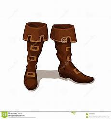 clipart photo vector illustration of leather boots stock vector image