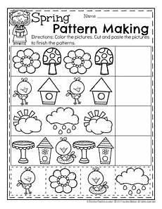 spring preschool worksheets planning playtime