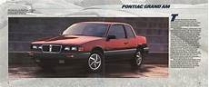 old car manuals online 1986 pontiac grand am parking system brochure eighties cars