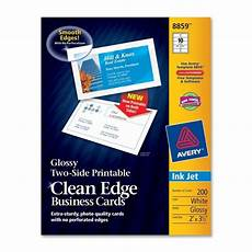 clean edge business card avery dennison 8859 72782 avery paper