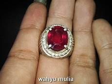 cincin batu permata ruby mirah asli kode 692 wahyu mulia