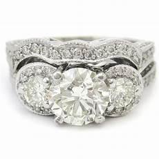 cut style three stone pave diamond engagement ring r75s