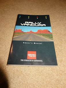 old cars and repair manuals free 1993 gmc sonoma club coupe security system 1993 93 gmc trucks rally van vandura owners manual ebay