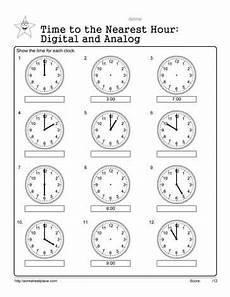 analog and digital worksheets