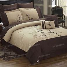 8pc duvet cover comforter embroidery pattern bed sheet queen king size