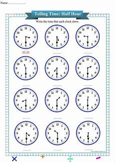 telling time worksheets hour 3028 telling time to the half hour worksheet free math worksheets