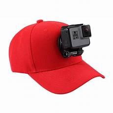 hthl for go pro accessories outdoor sun hat topi baseball cap w holder for gopro hero5