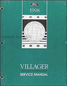 car repair manuals online pdf 1998 mercury villager engine control 1998 mercury villager repair shop manual original