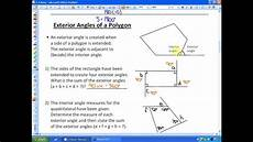 lesson 5 2 exterior angles of a polygon worksheet answers 2 4 lesson 1 part a angle properties in polygons youtube