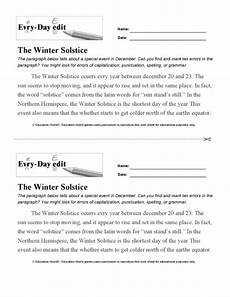 winter solstice worksheets 20086 every day edit winter solstice printable education world
