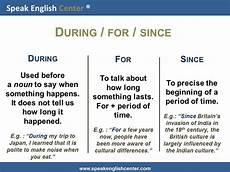 speak english center english grammar lesson during for since speak english center