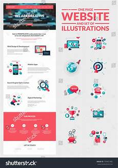 one page website design template all in one for website design that includes one page
