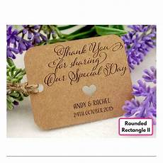 Personalized Gift Tags Wedding