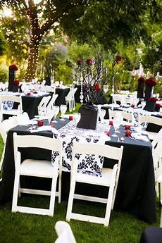 outdoor reception black white and wedding ideas wedding receptions wedding